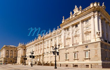 Royal Palace of Madrid at sunny day at Madrid, Spain Stock Photo - Royalty-Free, Artist: sergey_peterman               , Code: 400-05890258