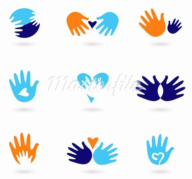 Love and friendship icon set. Stylized Vector Illustration Stock Photo - Royalty-Free, Artist: lordalea                      , Code: 400-05891430