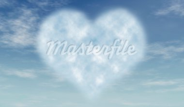 heart like cloud in blue azure sky Stock Photo - Royalty-Free, Artist: marinini                      , Code: 400-05893850