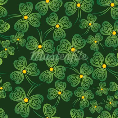 Seamless shamrock. Background clover vector. Green wallpaper. St. Patrick's Day. Irish illustration. Stock Photo - Royalty-Free, Artist: svetap                        , Code: 400-05896058