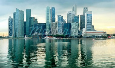 Panorama of Singapore in the beautiful sunset Stock Photo - Royalty-Free, Artist: joyt                          , Code: 400-05896414