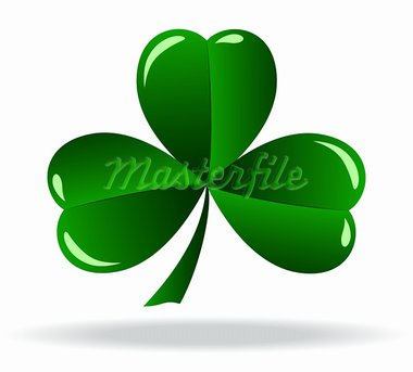 green shamrock as a symbol of St. Patrick's Day Isolated on white background Stock Photo - Royalty-Free, Artist: rodakm                        , Code: 400-05901562