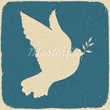 Dove of Peace. Retro styled illustration, vector, eps10. Stock Photo - Royalty-Free, Artist: pashabo                       , Code: 400-05902408