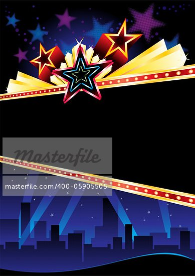 Poster design for entertainment event in city Stock Photo - Royalty-Free, Artist: oxygen64                      , Code: 400-05905505