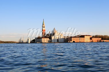 The church of San Giorgio Maggiore in Venetian Lagoon, Italy Stock Photo - Royalty-Free, Artist: kvkirillov                    , Code: 400-05905708