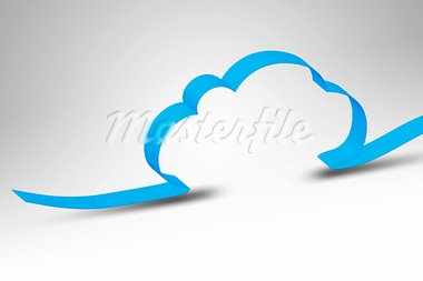 A blue ribbon making a cloud computing background Stock Photo - Royalty-Free, Artist: magann                        , Code: 400-05906212