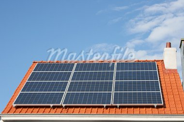 solar panels on a house roof Stock Photo - Royalty-Free, Artist: hadot                         , Code: 400-05906924