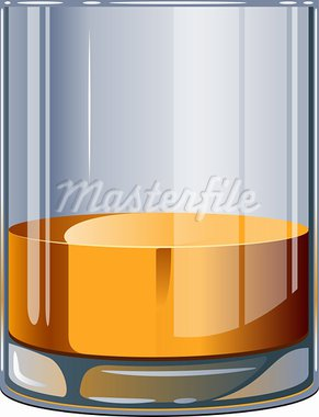 Glass of whiskey over white. EPS 10, AI, JPEG Stock Photo - Royalty-Free, Artist: jara3000                      , Code: 400-05907162