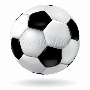 Leather soccer ball icon. Vector footbal sport object. Game illustration. Stock Photo - Royalty-Free, Artist: svetap                        , Code: 400-05907289