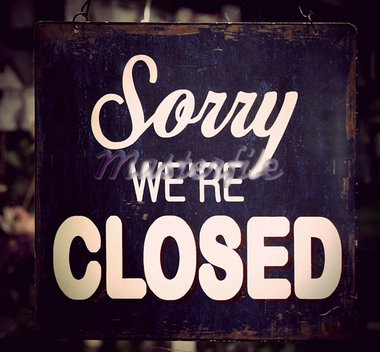 Vintage metal closed sign on shop door Stock Photo - Royalty-Free, Artist: PinkBadger                    , Code: 400-05908698