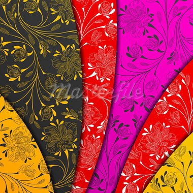 colored layers, abstract background, stylized flowers Stock Photo - Royalty-Free, Artist: Sergio77                      , Code: 400-05909656