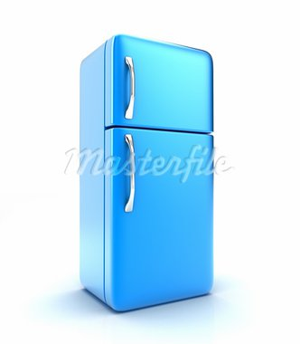Illustration of a new fridge on a white background Stock Photo - Royalty-Free, Artist: FotoVika                      , Code: 400-05911276