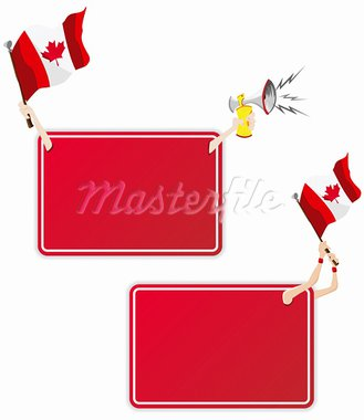 Vector - Canadian Sport Message Frame with Flag. Set of Two Stock Photo - Royalty-Free, Artist: gubh83                        , Code: 400-05911506