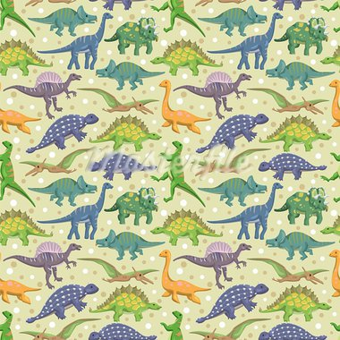 seamless dinosaur pattern   Stock Photo - Royalty-Free, Artist: notkoo2008                    , Code: 400-05913654