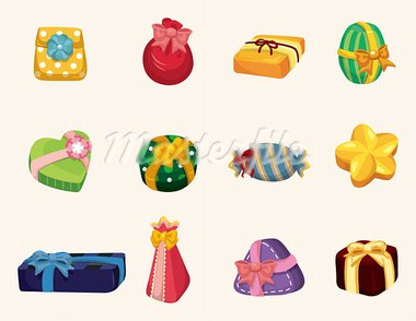 cartoon gifts icon   Stock Photo - Royalty-Free, Artist: notkoo2008                    , Code: 400-05913662