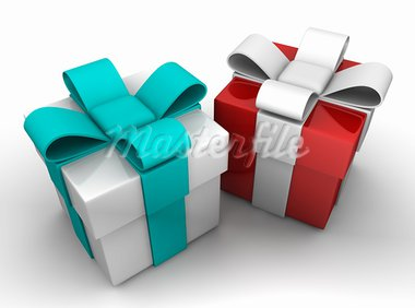 gift box over white background 3d illustration Stock Photo - Royalty-Free, Artist: notkoo2008                    , Code: 400-05914345