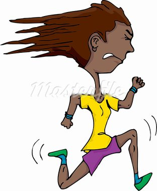 Athletic Hispanic woman isolated over white running fast Stock Photo - Royalty-Free, Artist: theblackrhino                 , Code: 400-05919090
