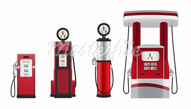 gasoline pumps vector illustration Stock Photo - Royalty-Free, Artist: slobelix                      , Code: 400-05919558
