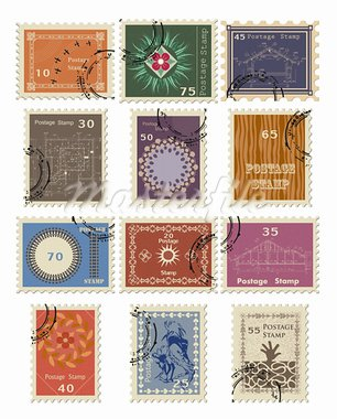 Stamp set for sale. Vector illustration. Stock Photo - Royalty-Free, Artist: emaria                        , Code: 400-05920538
