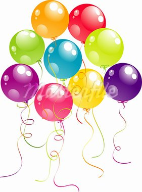Color beautiful party balloons, vector illustration Stock Photo - Royalty-Free, Artist: Tolchik                       , Code: 400-05920702