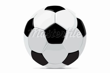 football ball on white background (vector illustration) Stock Photo - Royalty-Free, Artist: Chisnikov                     , Code: 400-05920820