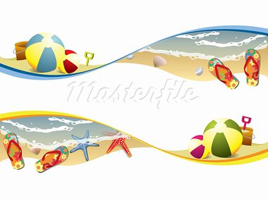 Summer beach banners Stock Photo - Royalty-Free, Artist: graphit                       , Code: 400-05923656