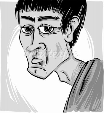 sketch caricature illustration of young man face Stock Photo - Royalty-Free, Artist: izakowski                     , Code: 400-05923957