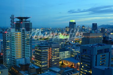 Aerial nighttime view of Kobe, Japan. Stock Photo - Royalty-Free, Artist: sepavo                        , Code: 400-05924768