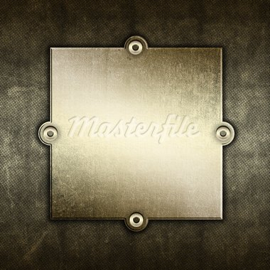 Grunge background with old metal plate and screws Stock Photo - Royalty-Free, Artist: kirstypargeter                , Code: 400-05927763