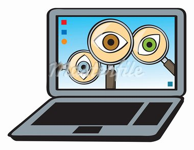 A cartoon depiction of the concept of spyware. Stock Photo - Royalty-Free, Artist: JSlavy                        , Code: 400-05933161