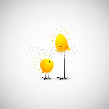 Easter chicks Stock Photo - Royalty-Free, Artist: Sergio77                      , Code: 400-05939409