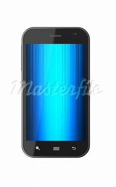 3d illustration of touchscreen smartphone isolated on white background Stock Photo - Royalty-Free, Artist: kotist                        , Code: 400-05946745