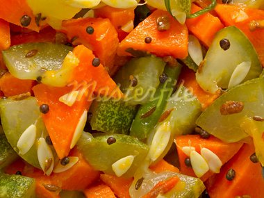 close up of indian vegetable medley food background Stock Photo - Royalty-Free, Artist: zkruger                       , Code: 400-05947632
