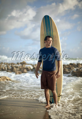Portrait of Surfer with Surfboard Stock Photo - Premium Rights-Managed, Artist: Peter Barrett, Code: 700-05947669