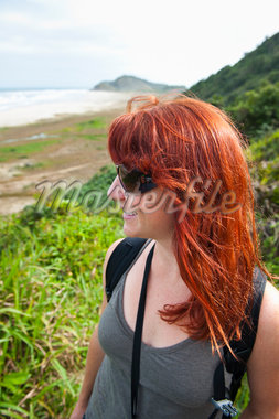 Close-up of Woman Hiking, Ilha do Mel, Parana, Brazil Stock Photo - Premium Royalty-Free, Artist: Chris Hendrickson, Code: 600-05947900