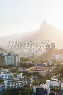 View of Botofogo with Corcovado Mountain in Background, Rio de Janeiro, Brazil Stock Photo - Premium Royalty-Free, Artist: Chris Hendrickson, Code: 600-05947904