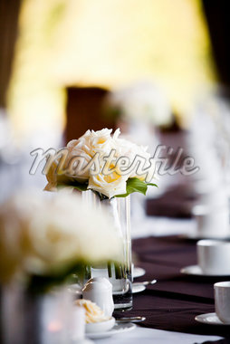 Bride's Bouquet in Vase on Table Stock Photo - Premium Rights-Managed, Artist: Ikonica, Code: 700-05948020
