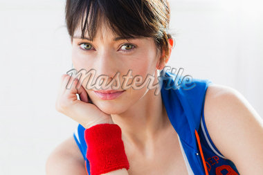 Close up of womans serious face Stock Photo - Premium Royalty-Freenull, Code: 649-05949775