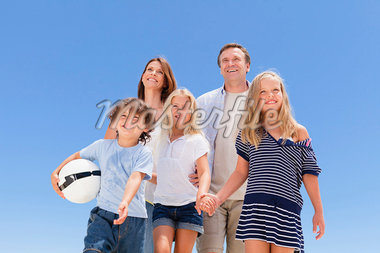 Family walking together outdoors Stock Photo - Premium Royalty-Freenull, Code: 649-05949981