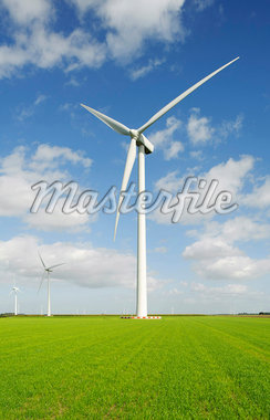 Wind turbine in rural landscape Stock Photo - Premium Royalty-Freenull, Code: 649-05950821