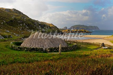 Bosta Iron Age House, Great Bernera Iron Age Village, Isle of Lewis, Western Isles, Scotland, United Kingdom, Europe Stock Photo - Premium Rights-Managed, Artist: Robert Harding Images, Code: 841-05961882