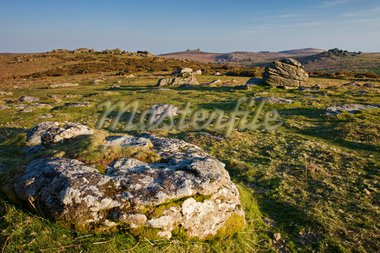 Granite outcrops on Hayne Down in Dartmoor National Park, Devon, England, United Kingdom, Europe Stock Photo - Premium Rights-Managed, Artist: Robert Harding Images, Code: 841-05962554