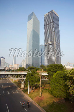 Skyscrapers in Zhujiang New Town area, Tianhe, Guangzhou, Guangdong Province, China, Asia Stock Photo - Premium Rights-Managed, Artist: Robert Harding Images, Code: 841-05962676