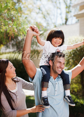 Family walking together outdoors Stock Photo - Premium Royalty-Freenull, Code: 635-05972074