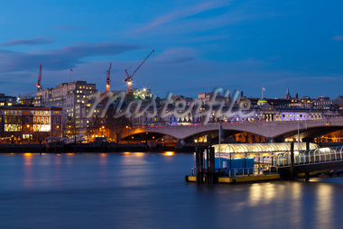 Waterloo Bridge and Festival Pier, London, England Stock Photo - Premium Rights-Managed, Artist: Jason Friend, Code: 700-05973001