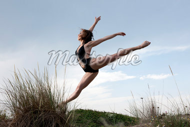 Dancer on Sand Dune Stock Photo - Premium Rights-Managed, Artist: Siephoto, Code: 700-05974023