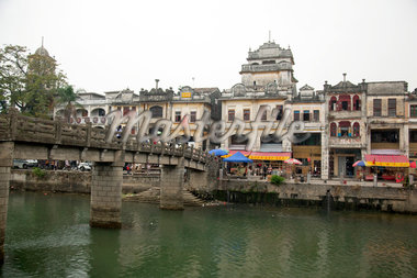 Qilou buildings and Tanjiang River, Historic town of Chika, Kaiping, Guangdong Province, China Stock Photo - Premium Rights-Managed, Artist: Oriental Touch, Code: 855-05982928