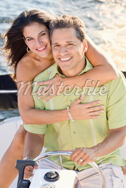 Portrait of Couple on Boat Stock Photo - Premium Rights-Managed, Artist: Kevin Dodge, Code: 700-06009227