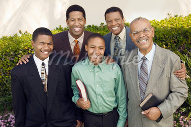 Group of male churchgoers, portrait Stock Photo - Premium Royalty-Freenull, Code: 693-06013973