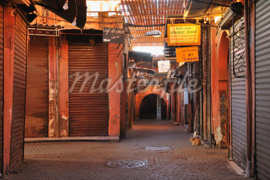 Traditional Souk in the Morning, Marrakech, Morocco Stock Photo - Premium Rights-Managed, Artist: Raimund Linke, Code: 700-06037993